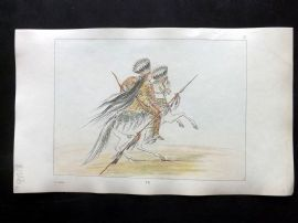Catlin 1857 HCol North American Indian Print. Crow Horseman 76